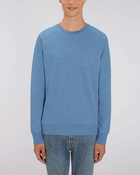 Steward | Basic Sweatshirt leicht meliert für Herren, Bio-Qualität