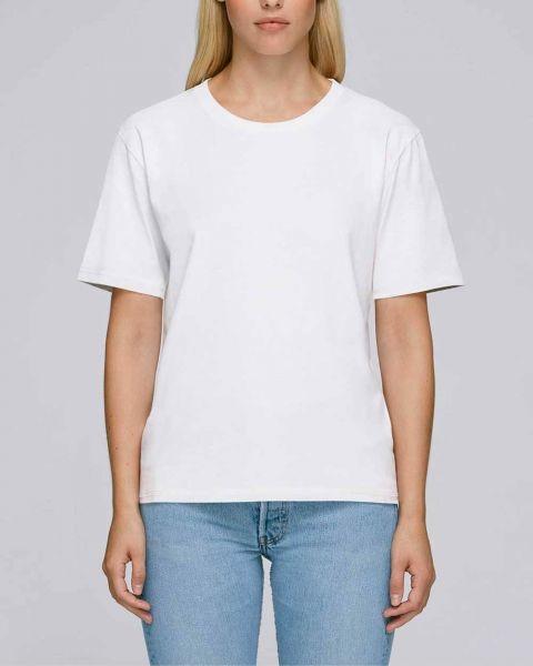 Fränzi | Schweres Damen Basic T-Shirt aus Bio-Baumwolle