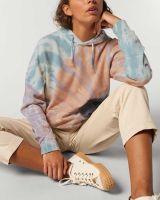 Kapuzenpullover, handgefärbt aus Bio-Baumwolle