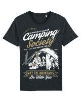 Camping | Herren T-Shirt aus 100% Baumwolle, Melange.