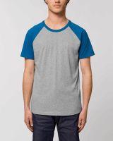 Unisex Bio T-Shirt mit abgesetzten Ärmeln