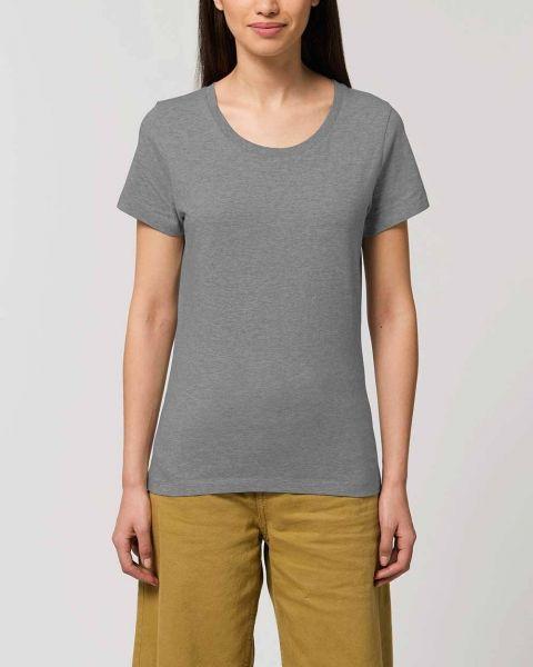 Emma   Anliegendes Damen T-Shirt aus Bio-Baumwolle  meliert