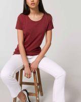 Elisa | Anliegendes Damen T-Shirt aus Bio-Baumwolle |meliert