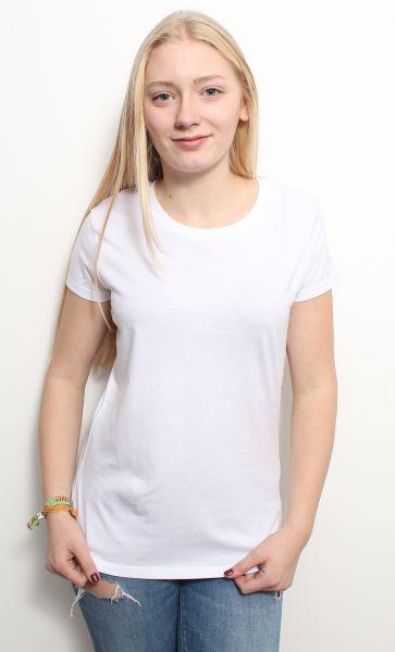 Damen | Basic T-Shirt aus 100% Bio- Baumwolle in Weiss oder Schwarz