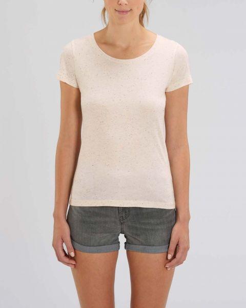 Lolita | Damen T-Shirt grob meliert | aus leichter Bio-Baumwolle