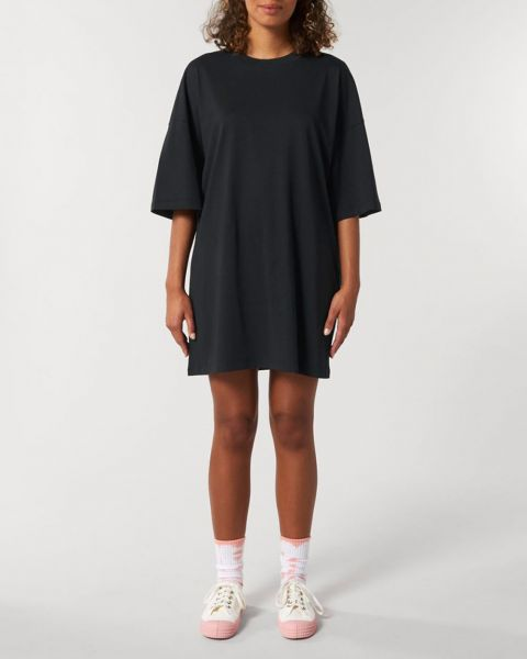 T-Shirt Kleid aus Bio Baumwolle; weit und locker; in drei Größen