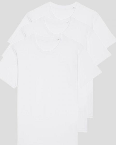 3er Pack Basic T-Shirts aus Bio-Baumwolle 150 g/qm