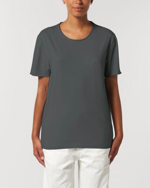 Unisex Basic Bio T-Shirt mit unversäubertem Saum