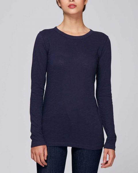 Damen | Slub Langarm-Shirt aus Bio-Baumwolle