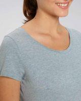 Lou | Damen T-Shirt meliert | aus leichter Bio-Baumwolle