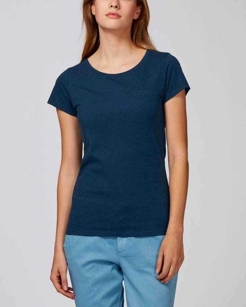 Aria | Damen T-Shirt, meliert aus 100% Bio-Baumwolle