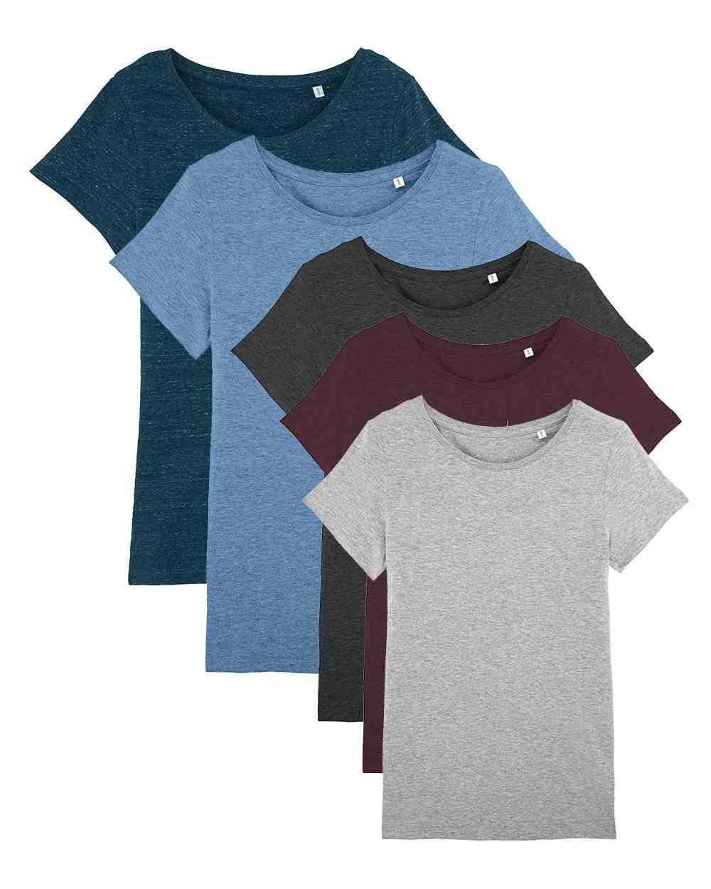 9833a7e87ec532 Basic Damen T-Shirt aus 100% Bio-Baumwolle billiger im Mehrfach-Pack ...