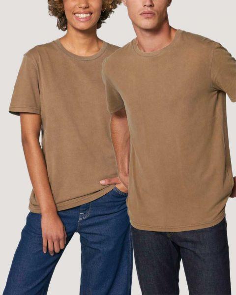 Stückgefärbtes Vintages Bio T-Shirts für Damen und Herren