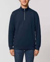Zip Sweatshirt aus Bio-Baumwolle und recyceltem Polyester